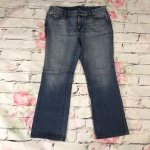 Loft Mid Rise Medium Wash Jeans in size 12p